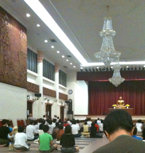 Can you see him?  Next to the lady in black. He joined us for the dharma class. Amazing!