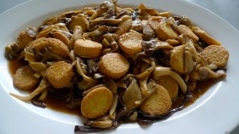 Vegetarian Organic Tofu with Mushroom. So yummy!