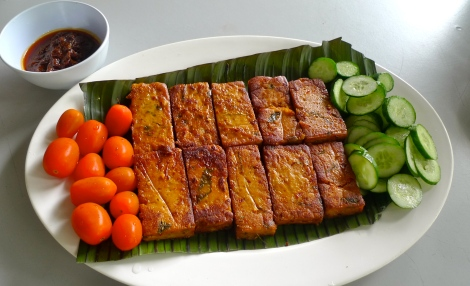 Vegetarian Otak otak.. !st time i ever try, So nice! Be mindfulness when you are eating, all food taste great! Try!