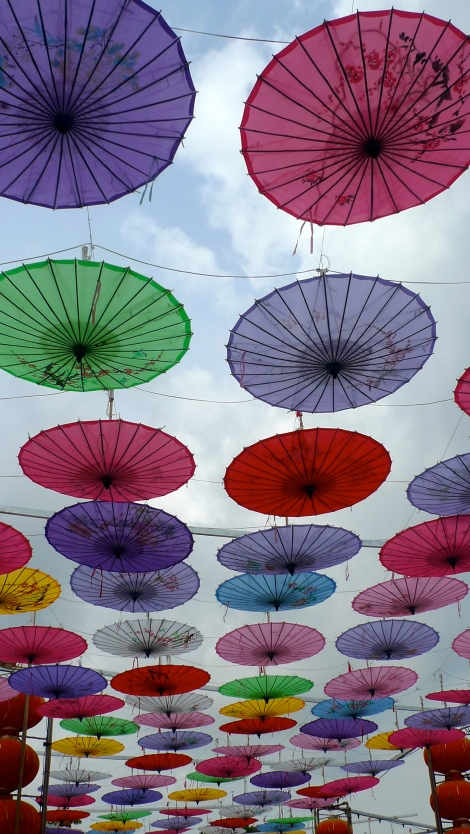 The shinning Umbrella path- Happiness and peace...