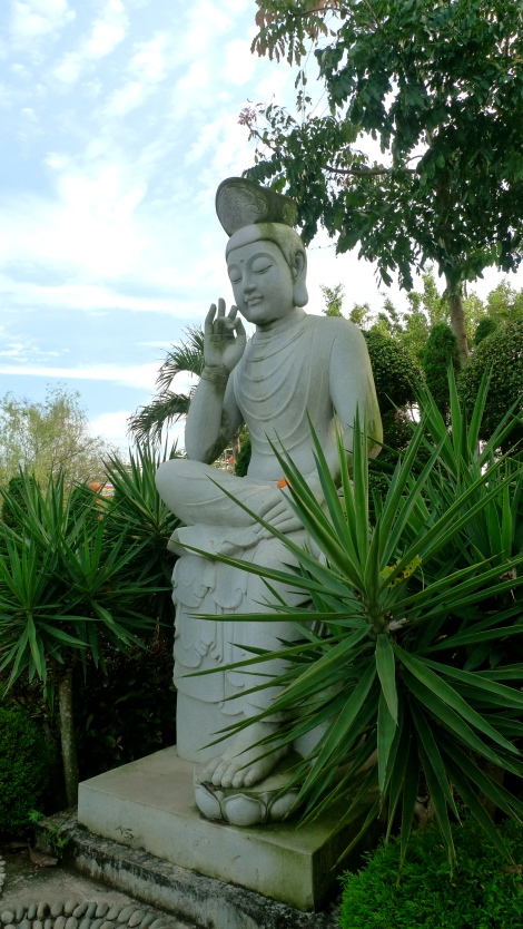 """The first step on the path of Buddhism is to lessen our desires and be satisfied with what we have. Then our minds will relax and we will begin to gain wisdom. ""By Master Cheng Yen I felt peace, serenity and ease of life when I look at  Bodhisatvva statue."
