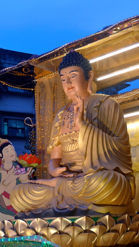 Buddhists pay respect to the Buddha to show their gratitude to Him for showing the way to Enlightenment and liberation.