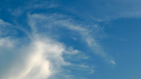 Blue Sky and white clouds.. The simplest thing is the most precious thing in life! Appreciate all good moment in life!