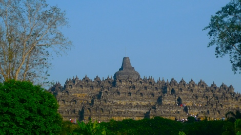 A beautiful view of Borobudur from a distance… Amazing!