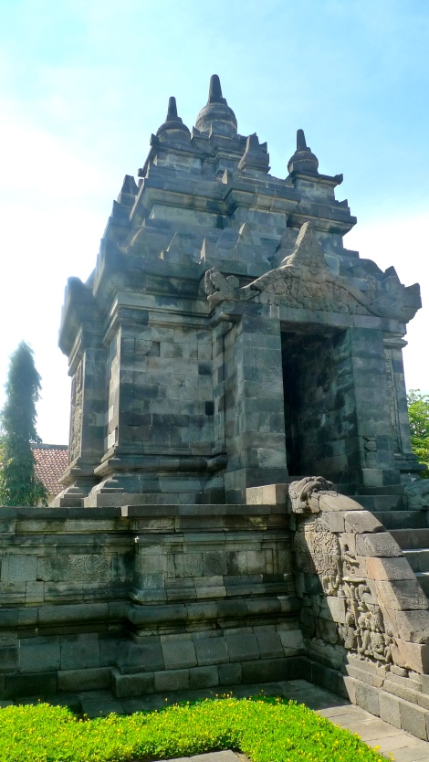 Candi Pawon, it looked great. It was from the Javanese temple architecture.