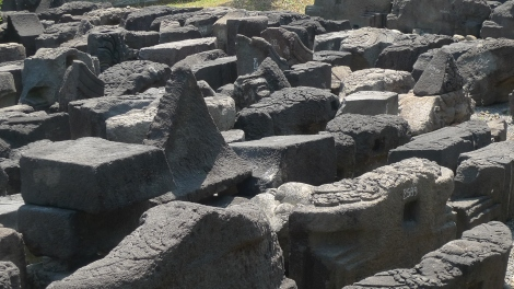 Look at the stones in Museum, once upon a time, it was part of the magnificent temple.. Impermanence!