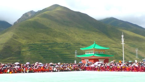 Look at the audience, they came early before the start of the performance. They sat patiently under the hot burning sun!