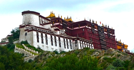 Magnificent Potala Palace in Lhasa.