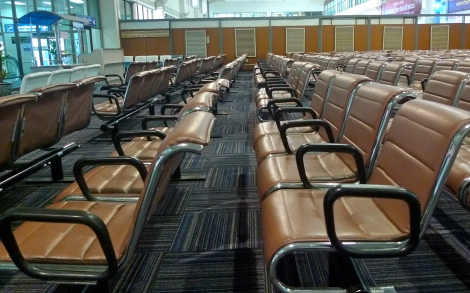By looking at the empty seats, we thought only 4 of us will go for boarding.