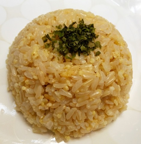A bowl of Organic brown rice with Organic millet, give me ultimate happiness! I am blessed! It give great nutrient to my body and mind!