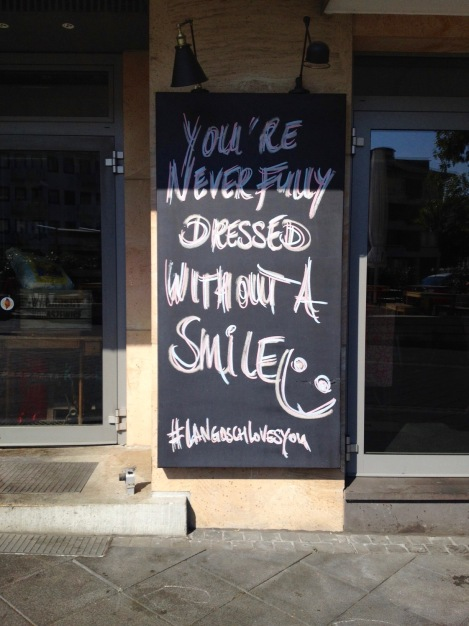 How profound! Are you smiling?