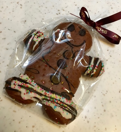 My sister received a beautiful and cute ginger bread man.